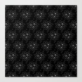 White Floral spread Canvas Print
