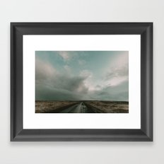 Miles to Go x Iceland Road Framed Art Print