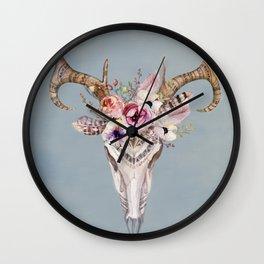 Deer Skull 2 Wall Clock