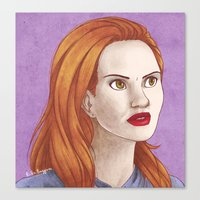 lydia martin Canvas Prints featuring Lydia Martin by billa