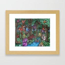 Creatures at Nite Framed Art Print