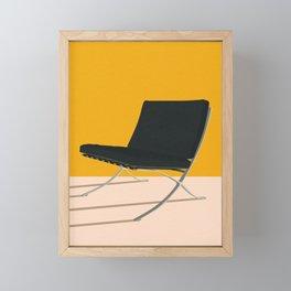 Barcelona Chair Framed Mini Art Print