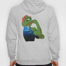 Pepe The Frog Yes we can do it WW2 poster vintage Ad Hoody