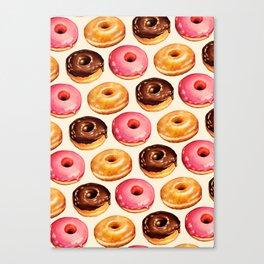 Donut Pattern Canvas Print