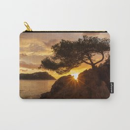 Lonely tree at sunrise on the beach  Carry-All Pouch