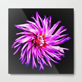 Electro Floral Fun Metal Print