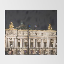 Paris, Opéra Garnier night Throw Blanket