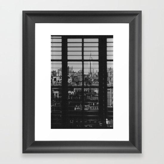 Through The Blinds Framed Art Print