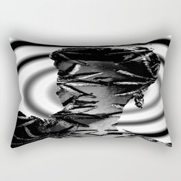 Our Lady of Spiders in Black and White Rectangular Pillow