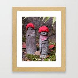 Cute jizo statues Framed Art Print