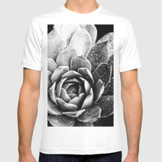 Rainsplashed Cactus White MEDIUM Mens Fitted Tee