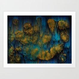 Molten - Abstract Pixel Art Art Print