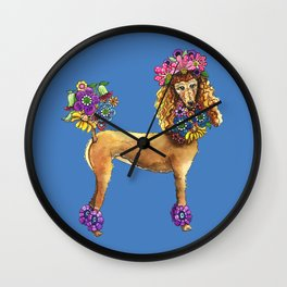 Poodle Dee Doo Two Wall Clock