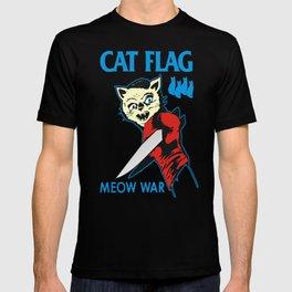 Cat Flag Meow War  T-shirt
