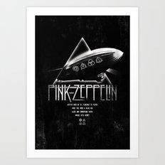 Pink Zeppelin Art Print