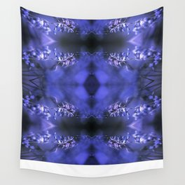 RED SPANGLES no3C-Blue Wall Tapestry