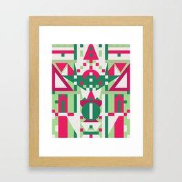 Color Blocks - Geometric Print (13-Nov-17) Framed Art Print