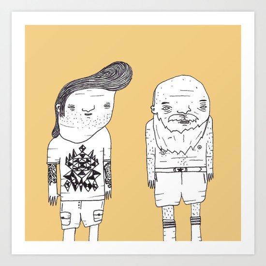 Jebba Characters 8 Art Print