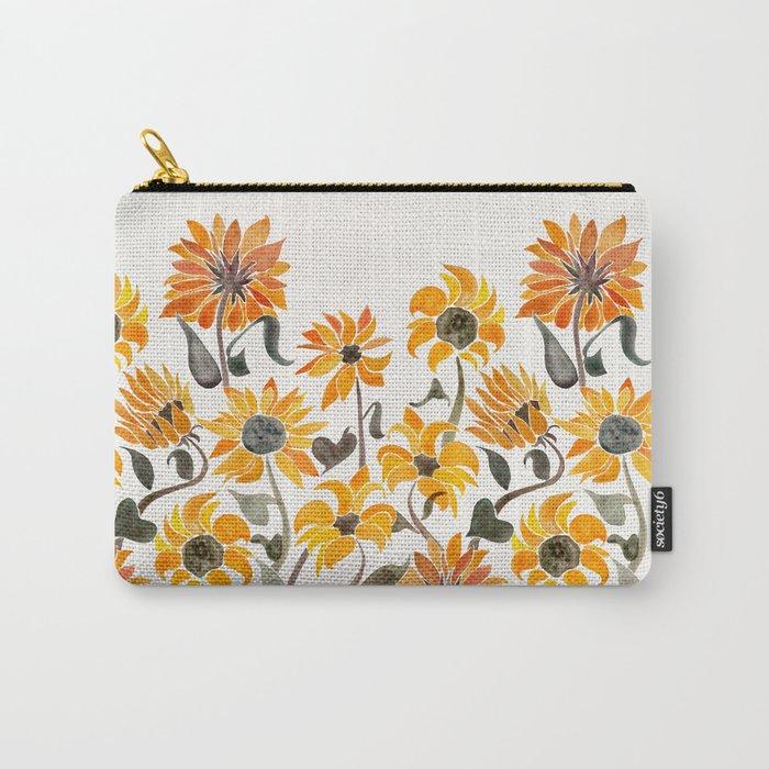 Sunflower Watercolor – Yellow & Black Palette Tasche