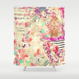 Flowers Mix Vintage Patchwork Shower Curtain