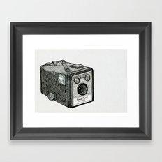 Kodak Box Brownie Camera Illustration Framed Art Print