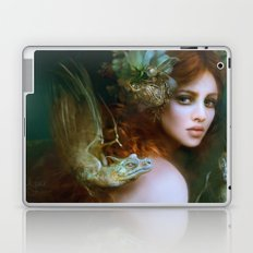 Mint & Roses - Girl with dragons Laptop & iPad Skin