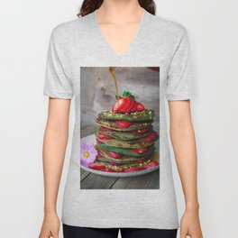 pancakes #society6 #decor #buyart Unisex V-Neck