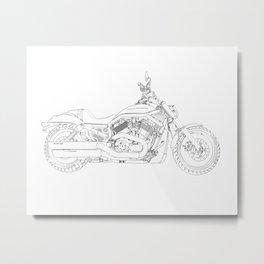 a motorcycle Metal Print