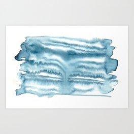 indigo shibori 09 Art Print