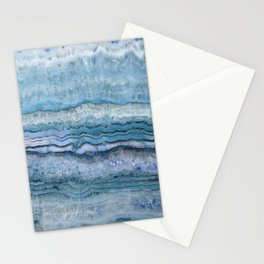 Mystic Stone Aqua Blue Stationery Cards