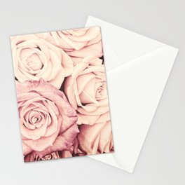 Some people grumble I Floral rose roses flowers pink Stationery Cards