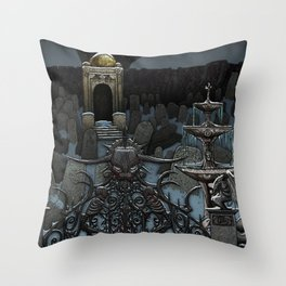 The Frozen Cemetary Throw Pillow