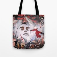 taxi driver Tote Bags featuring TAXI DRIVER by John McGlynn