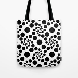 Optical Illusion Dot Spirals Tote Bag