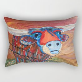 Fly Me to the Moo Rectangular Pillow