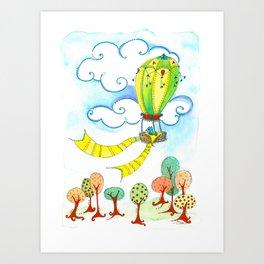 Bird in a Balloon Art Print