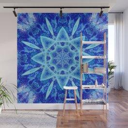 Ice Matrix Mandala Wall Mural