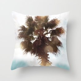 Glowing Palm Throw Pillow