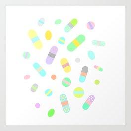 Drugs N Pills N Thrills Art Print