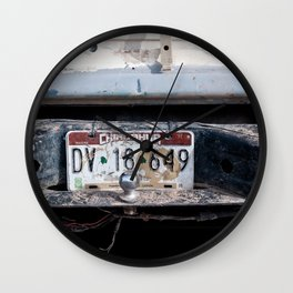 Chihuahua Mexico License Plate Wall Clock