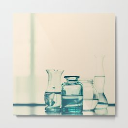Crystal jars and bottles (Retro and Vintage Still Life Photography) Metal Print