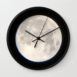 Moon over Melbourne Wall Clock