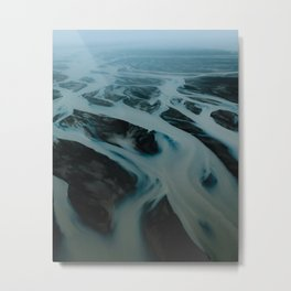 Mystic Riverbeds in Iceland – Landscape Photography Metal Print