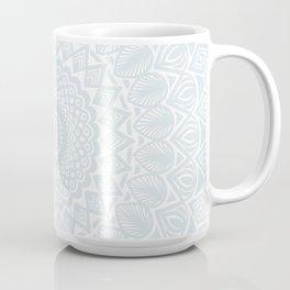 Minimal Minimalistic Light Cool Gray Mandala Coffee Mug