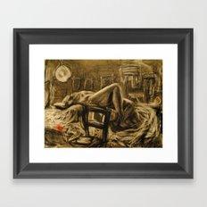 nude in the studio Framed Art Print