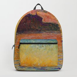 San Giorgio Maggiore by Twilight by Claude Monet Backpack