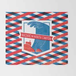Nazaré - The North Canyon Throw Blanket