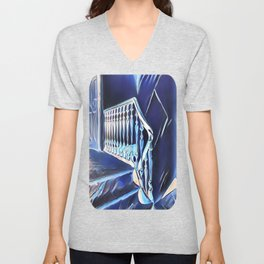 Eerie Paranormal Staircase Unisex V-Neck