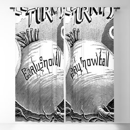 Three Table Turnips 1894 Blackout Curtain