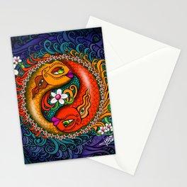 Yin Yang Koi Stationery Cards